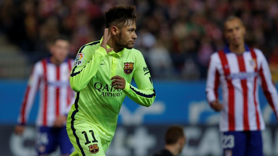 Na bola e nos nervos, Neymar desestabilizou o Atlético e ajudou o Barça a avançar na copa