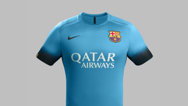 Barcelona retoma o azul em seu novo uniforme alternativo  1fd9e104cd80c