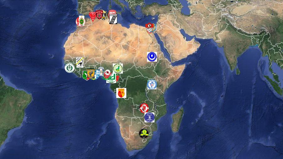 Na véspera da decisão, um mapa com todos os finalistas da Liga dos Campeões da África