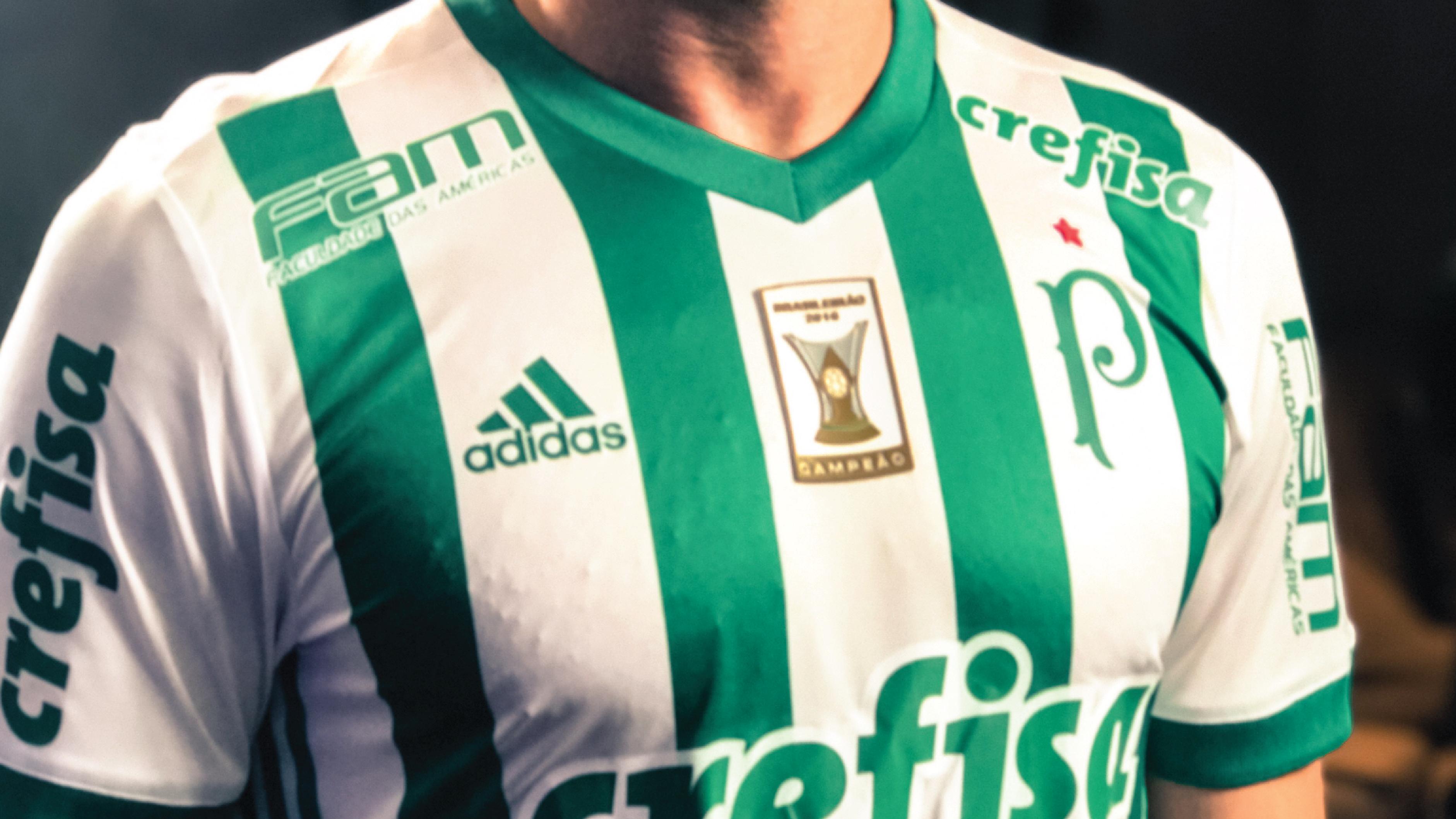 Palmeiras lança camisa reserva 2017 18 com referência à arrancada ... 76167addaf2f2