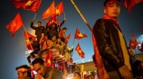 Vietnamese Fans Celebrate In Hanoi After ASEAN Football Federation Cup Victory