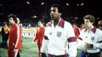 Sport. Football. Friendly International. Wembley, London. 29th November 1978. England 1 v Czechoslovakia 0. Nottingham Forest's Viv Anderson becomes the first black player to represent England at full International level.