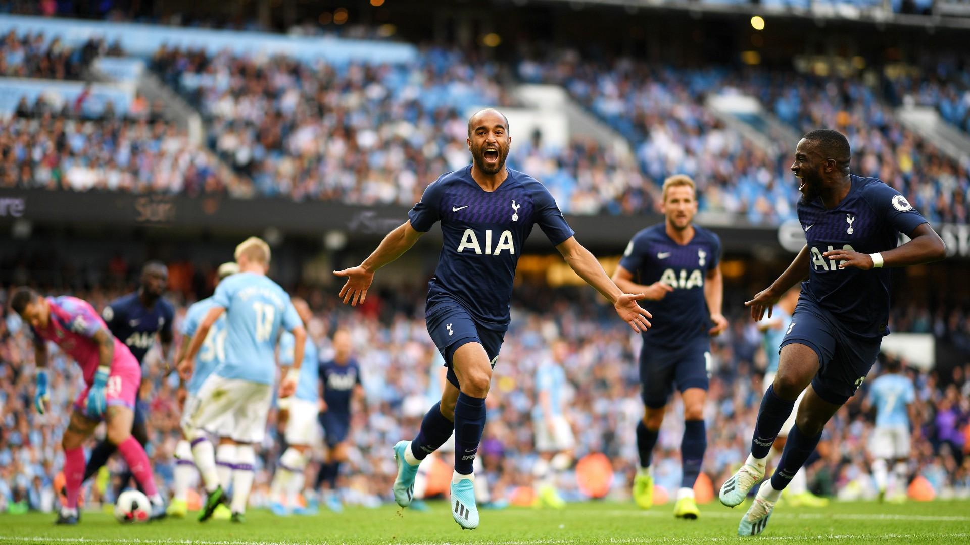 Manchester City joga melhor, mas Tottenham arranca empate com gol de Lucas Moura