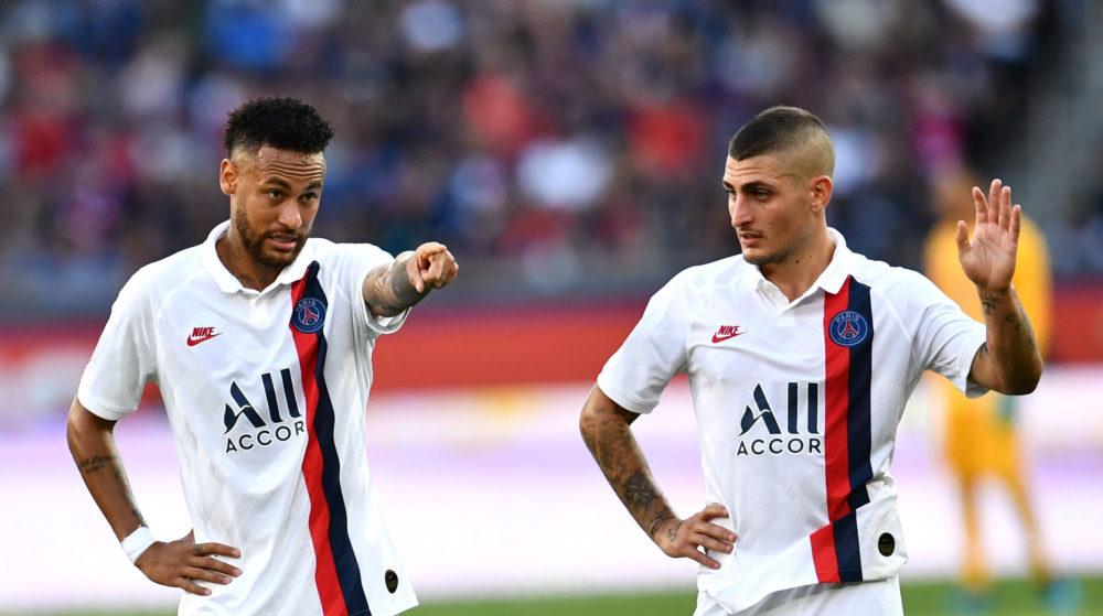 """Verratti: """"Neymar tem treinado melhor que antes e sabe que tem que compensar por algo"""""""