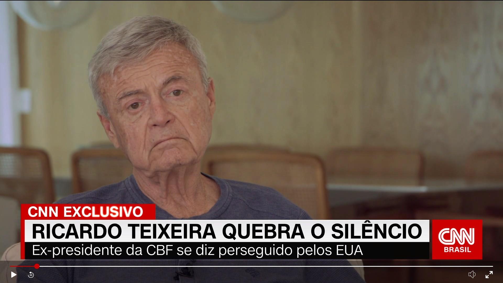 Ricardo Teixeira diz ter sido vítima de retaliação de Clinton